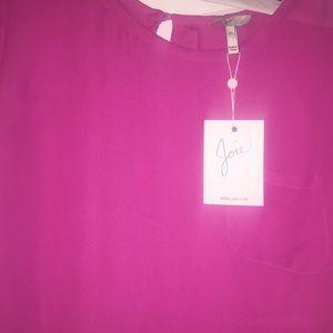 Joie Tops - Joie short sleeve pink silk blouse